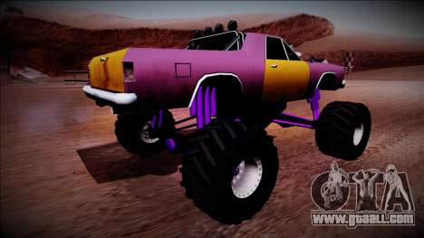 Picador Monster Truck for GTA San Andreas back left view