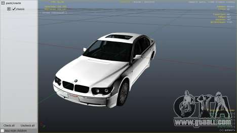 GTA 5 BMW 760i E65 right side view
