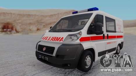 Fiat Ducato Turkish Ambulance for GTA San Andreas