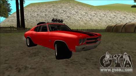 Chevrolet Chevelle Rusty Rebel for GTA San Andreas inner view