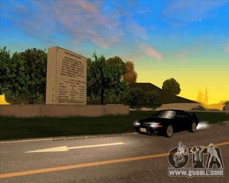 Nissan Skyline GT-R BNR32 Initial D Legend 2 N.K for GTA San Andreas back view