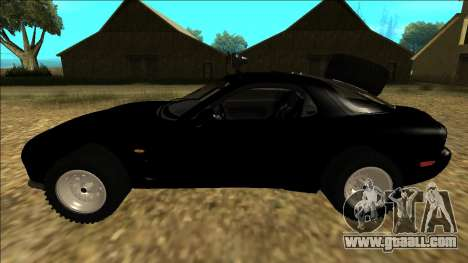 Mazda RX-7 Rusty Rebel for GTA San Andreas left view