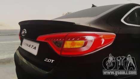 Hyundai Sonata Turbo 2.0 2015 V1.0 Final for GTA San Andreas upper view