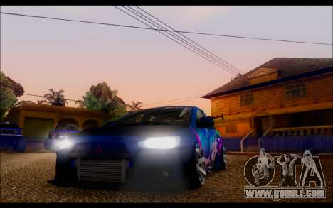 Mitsubishi Lancer X by Venceslav Sexy for GTA San Andreas back view