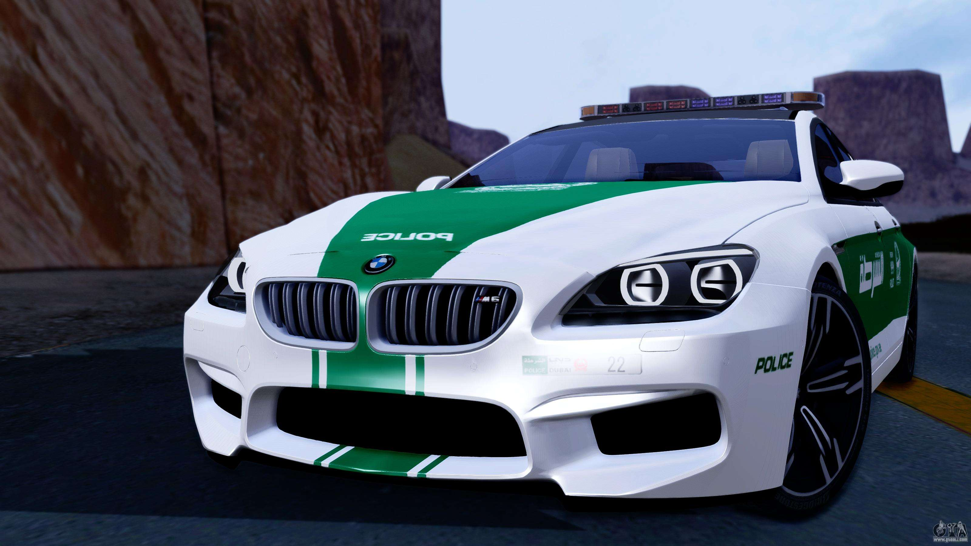 bmw m6 f13 gran coupe 2014 dubai police for gta san andreas. Black Bedroom Furniture Sets. Home Design Ideas