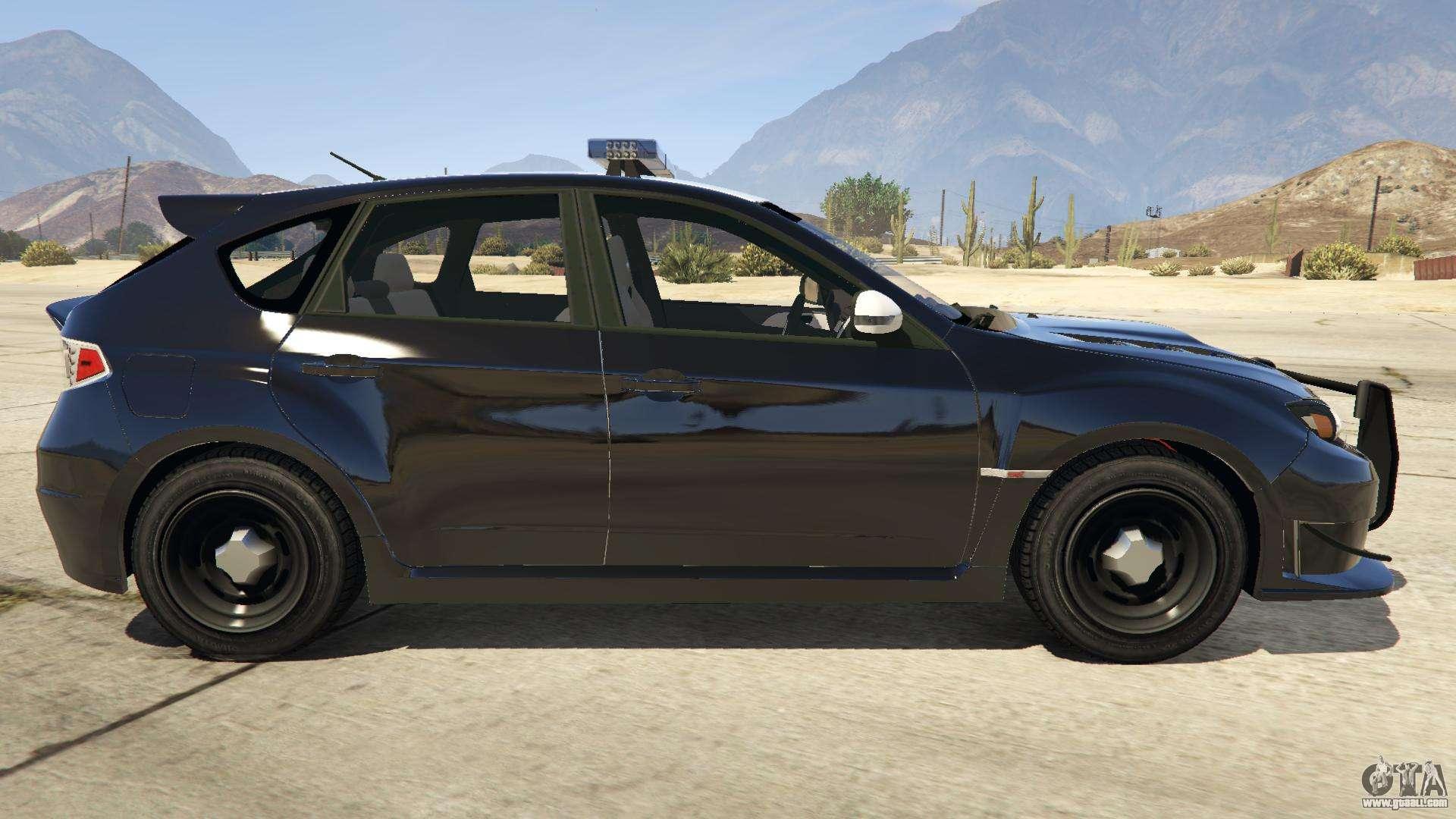 Subaru Wrx Sti Hatchback >> LAPD Subaru Impreza WRX STI for GTA 5