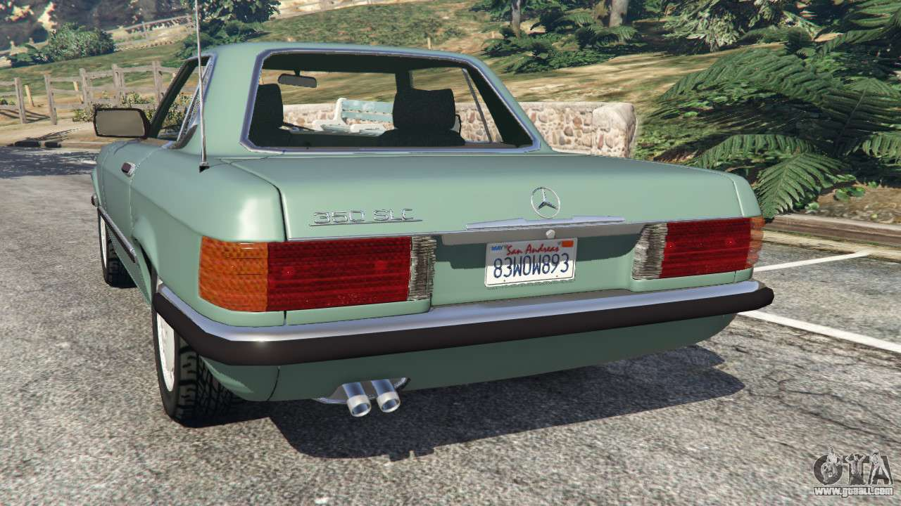 mercedes benz 350 sl r107 for gta 5. Black Bedroom Furniture Sets. Home Design Ideas