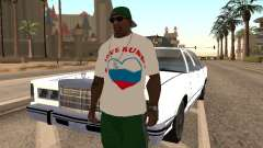 T-shirt I love Russia for GTA San Andreas