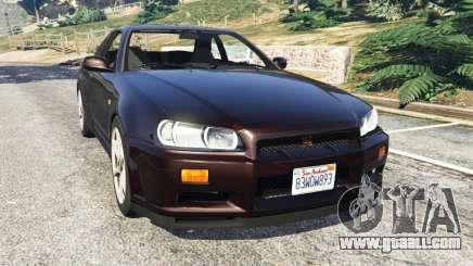 Nissan Skyline GT-R (R34) 1999 for GTA 5