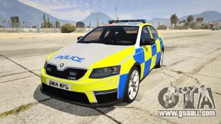 2014 Police Skoda Octavia VRS Hatchback for GTA 5