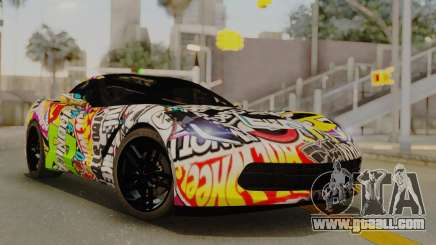 Chevrolet Corvette Stingray C7 2014 Sticker Bomb for GTA San Andreas