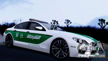 BMW M6 F13 Gran Coupe 2014 Dubai Police for GTA San Andreas