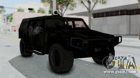 HMLTV-998 BULDOG from Crysis 2 for GTA San Andreas back left view