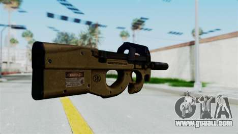 P90 Sand Frame for GTA San Andreas second screenshot