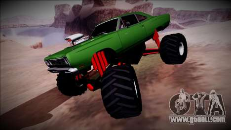 1969 Plymouth Road Runner Monster Truck for GTA San Andreas upper view