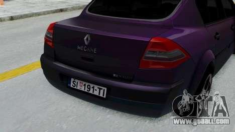 Renault Megane II for GTA San Andreas back view