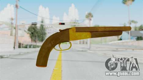 Double Barrel Shotgun Gold Tint (Lowriders CC) for GTA San Andreas second screenshot