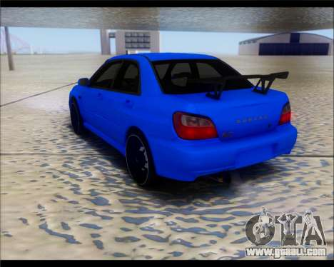 Subaru Impreza for GTA San Andreas back left view