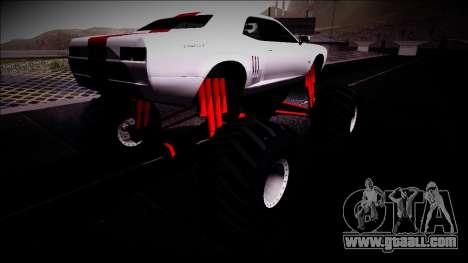 GTA 5 Bravado Gauntlet Monster Truck for GTA San Andreas back left view