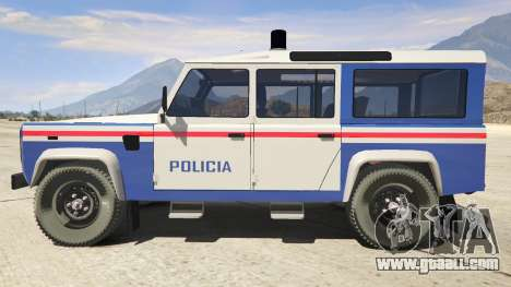 GTA 5 Land Rover Defender left side view