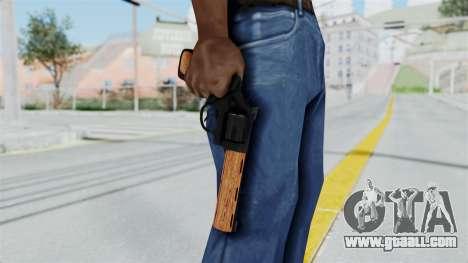 Wood Revolver for GTA San Andreas