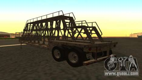 The trailer panels for GTA San Andreas left view