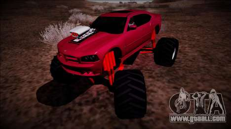 2006 Dodge Charger SRT8 Monster Truck for GTA San Andreas back left view