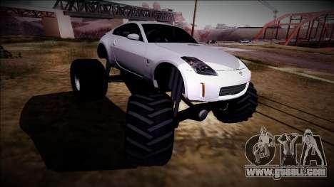 Nissan 350Z Monster Truck for GTA San Andreas inner view