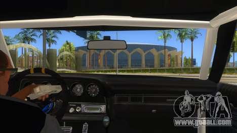 Ford Gran Torino Drag for GTA San Andreas inner view