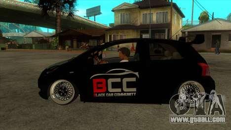 Toyota Yaris (Vitz) [Black Car Community] for GTA San Andreas left view