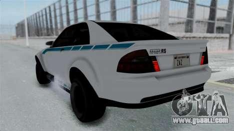 GTA 5 Karin Sultan RS Stock PJ for GTA San Andreas wheels