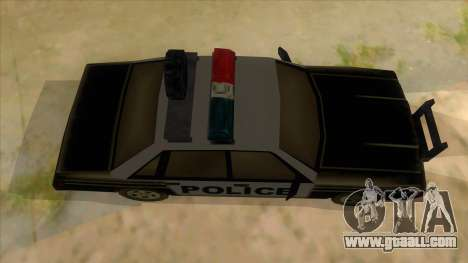Police Car from Manhunt 2 for GTA San Andreas inner view
