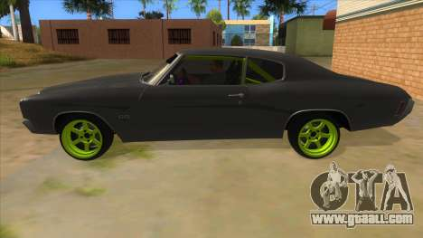 1970 Chevrolet Chevelle SS Drift Monster Energy for GTA San Andreas left view