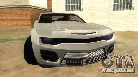 Chevrolet Camaro DOSH tuning MQ for GTA San Andreas back view