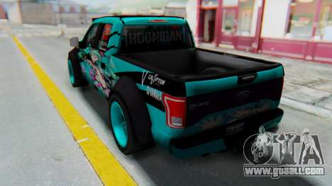 Ford F-150 2015 Drift Gym for GTA San Andreas left view