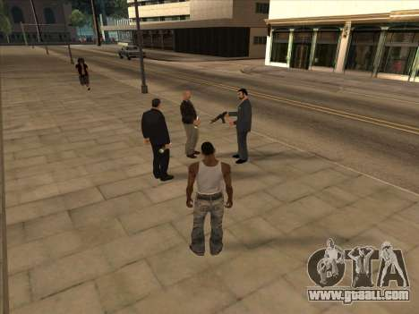 Russians in the Shopping district for GTA San Andreas fifth screenshot