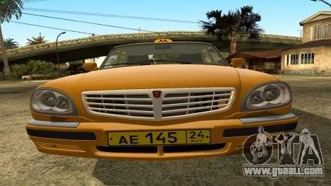 GAZ 31105 Volga Taxi IVF for GTA San Andreas inner view