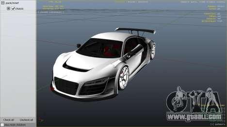 GTA 5 Audi R8 LMS Street Custom right side view
