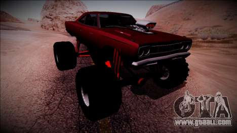 1969 Plymouth Road Runner Monster Truck for GTA San Andreas bottom view