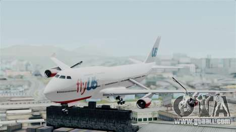 GTA 5 Jumbo Jet v1.0 FlyUS for GTA San Andreas back left view