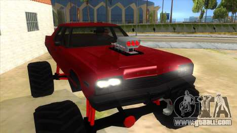 1974 Dodge Monaco Monster Truck for GTA San Andreas back view