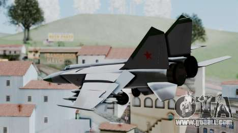 MIG-25 Foxbat for GTA San Andreas left view