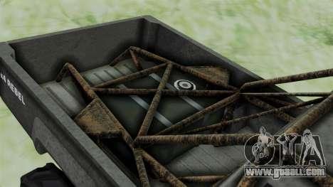 GTA 5 Karin Rebel 4x4 Worn for GTA San Andreas back view