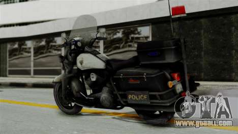 Police Bike from RE ORC for GTA San Andreas left view