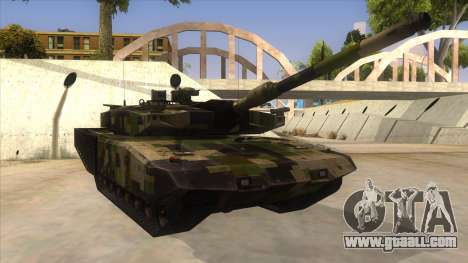 MBT52 Kuma for GTA San Andreas back view