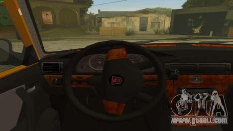 GAZ 31105 Volga Taxi IVF for GTA San Andreas back view