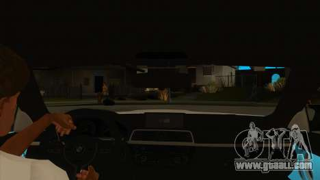 BMW M4 Liberty Walk Performance for GTA San Andreas inner view
