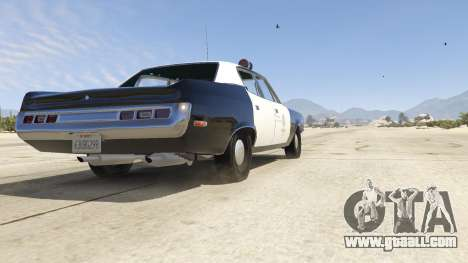 GTA 5 1972 AMC Matador LAPD back view
