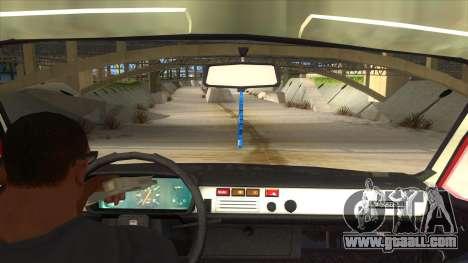 Dacia 1310 for GTA San Andreas inner view
