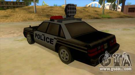 Police Car from Manhunt 2 for GTA San Andreas back left view
